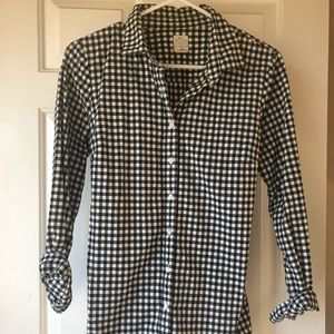 J Crew gingham check perfect shirt button down